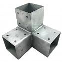 Holzverbinder, Eckverbinder, Pfostenverbinder für 3 x Kantholzbalken 70 x 70 mm