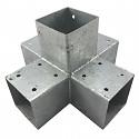 Holzverbinder, Eckverbinder, Pfostenverbinder für 5 x Kantholzbalken 70 x 70 mm