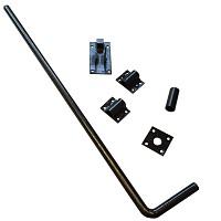 Bolzenriegel, Bodenschieber schwarz beschichtet- 600mm