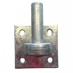 Clamp for Rustic door fitting galvanized shutter hinge plate: 100x100mm, Ø19mm