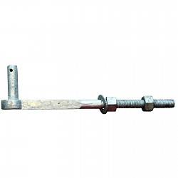 Loading band clamp screw hooks Overall length: 350mm galvanized