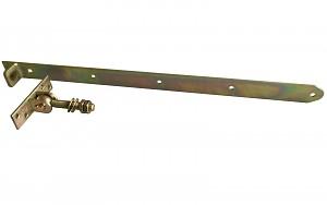 Ladenband verstellbar gelb verzinkt Tor M16 Tor Tür Ladenbänder Gartentor 670x40mm
