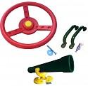 Spielturm-Set Lenkrad, Fernrohr und Handgriffe bunt