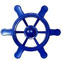 Piratenlenkrad blau für Spielschiff, Kletterturm & Co. die Spielturmzubehör für jeden Käptn