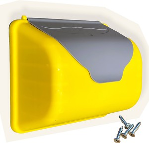 Briefkasten grau / gelb
