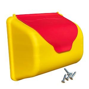Briefkasten als Zubehör für Spiel- und Kletterturm, Spielplatz im Garten, gelb-rot