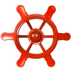 Piratenlenkrad rot für Spielschiff, Kletterturm & Co. die Spielturmzubehör für jeden Käptn