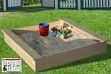 Sandkasten aus naturbelassenem Massivholz 120 x 120 cm - ohne Abdeckung