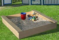Sandkasten mit Abdeckhaube - 120x120cm
