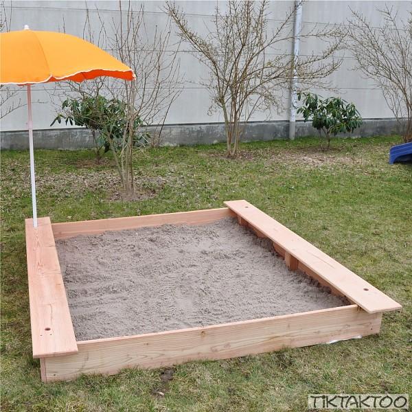 sandkasten sandkiste buddelkasten sandbox l rche holz. Black Bedroom Furniture Sets. Home Design Ideas