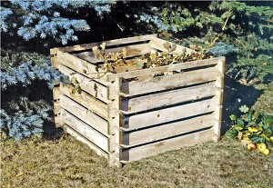 Holz-Komposter Kompostsilo 120x120x70 cm -KDI- Stecksystem