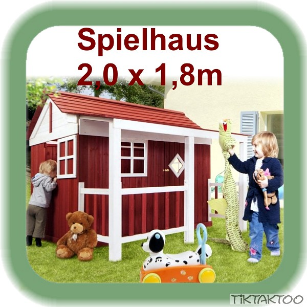 spielhaus holz kinderspielhaus gartenhaus holzhaus neu ebay. Black Bedroom Furniture Sets. Home Design Ideas