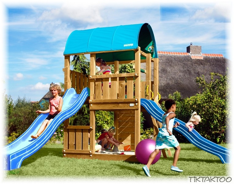 spielturm lena s farm mit rutsche inkl jungle gym. Black Bedroom Furniture Sets. Home Design Ideas