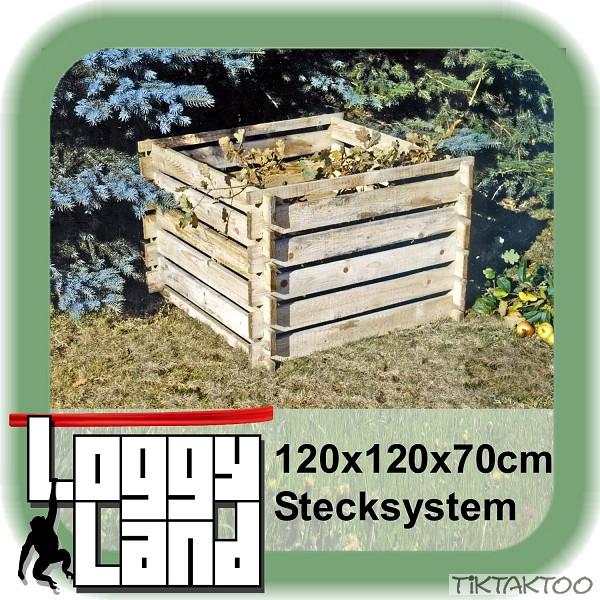 Komposter-Holz-Kompostbehaelter-Kompostsilo-Kompost-Holzkomposter-Steckkomposter