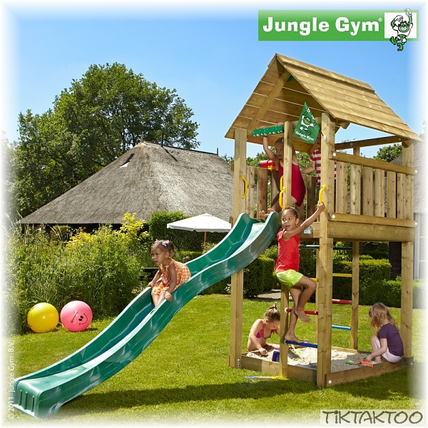 jungle gym cabin ohne rutsche spielturm kletterturm. Black Bedroom Furniture Sets. Home Design Ideas