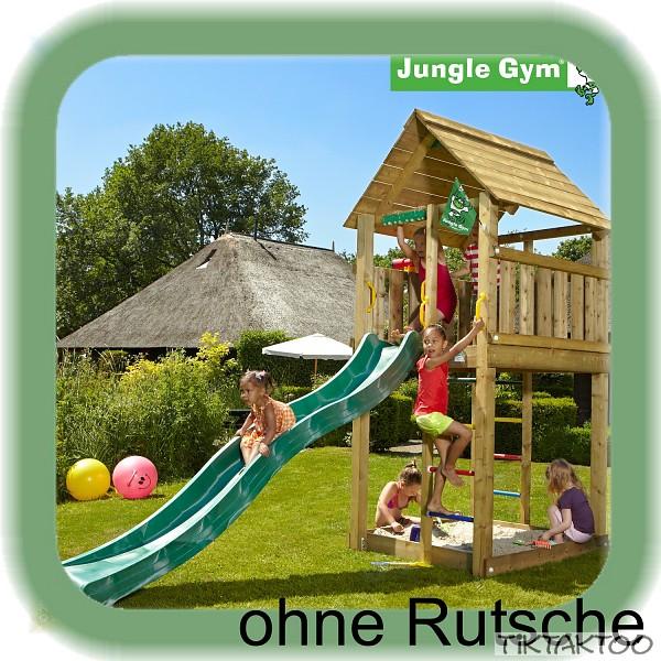 jungle gym cabin ohne rutsche spielturm kletterturm stelzenhaus baumhaus holz. Black Bedroom Furniture Sets. Home Design Ideas