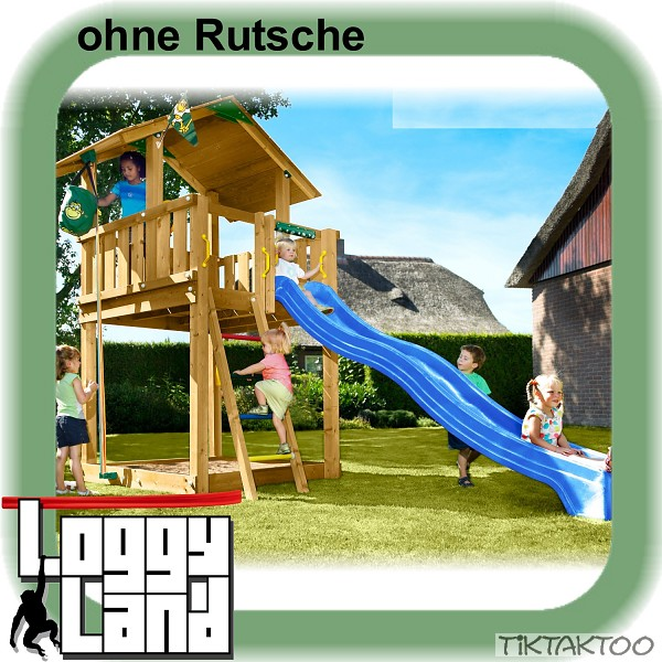 spielturm mia s chalet ohne rutsche inkl jungle gym zubeh rpaket kit holz neu. Black Bedroom Furniture Sets. Home Design Ideas