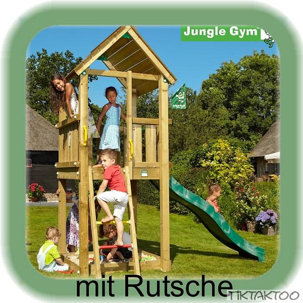 jungle gym club mit rutsche spielturm kletterturm. Black Bedroom Furniture Sets. Home Design Ideas