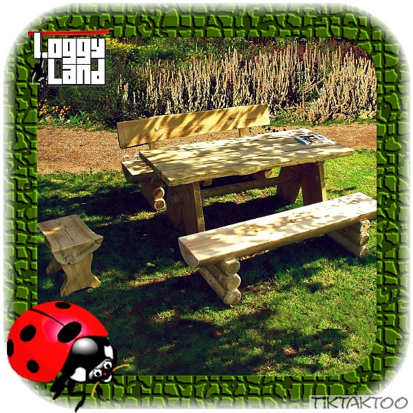 garten sitzgruppe aus holz massiv gartenm bel gartenbank gartentisch antik look ebay. Black Bedroom Furniture Sets. Home Design Ideas