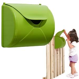Kinder Briefkasten für Spielturm oder Spielhaus apfelgrün