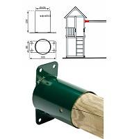 rundholz 100 mm gel nder f r au en. Black Bedroom Furniture Sets. Home Design Ideas