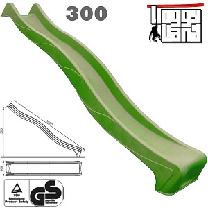 Anbau Wellenrutsche 3m mit Wasseranschluss apfelgrün