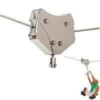 Laufkatze für Seilbahn aus Edelstahl