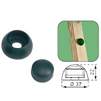Bolzenabdeckung Abdeckkappe 8/10mm grün Kunststoff