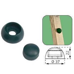 20 Stück Bolzenabdeckung 8/10mm grün Abdeckkappen