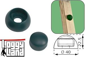 Bolzenabdeckung 12mm grün Kunsstoff