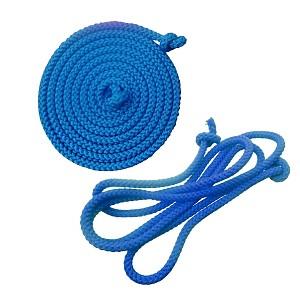 Gymnastik-Springseil  2,80m blau