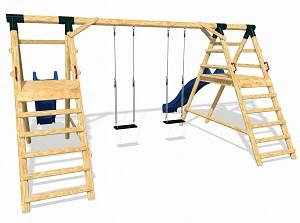LoggyLand Spielplatz Set DOUBLE Höhe: 2,10 m