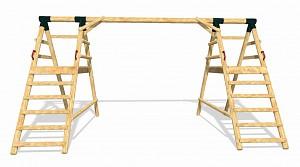 LoggyLand Grundgerüst für das Spielplatz Set DOUBLE Höhe: 2,10m