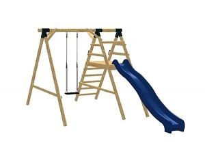 LoggyLand Spielplatz Set MEDIUM Höhe: 2,10 m