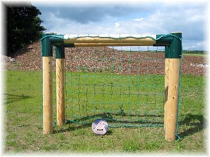 Fußballtor Bolzplatztor Holz Fußball Tor extra massiv