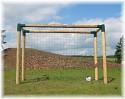 Fußballtor Bolzplatztor Holz extra massiv Fußball Tor