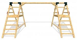 LoggyLand Grundgerüst für das Spielplatz Set DOUBLE Höhe: 2,60 m