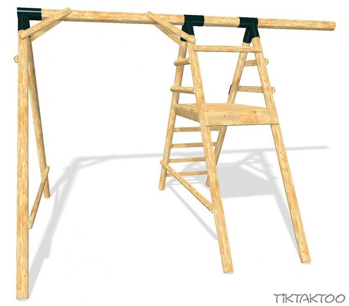 schaukel spielturm rutsche schaukelgestell kletterturm wellenrutsche l rchenholz. Black Bedroom Furniture Sets. Home Design Ideas