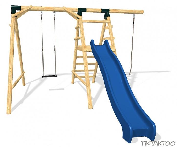 schaukel spielturm schaukelgestell l rchenholz rutsche. Black Bedroom Furniture Sets. Home Design Ideas