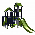 Moveandstic Moritz - Spielburg mit Rutsche titangrau apfelgrün