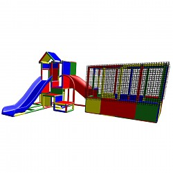 Moveandstic Charlotte - Play Tower with Ball Pool and Slide