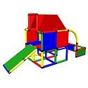 Moveandstic Fabian - Spielhaus mit Dach und Kleinkindrutsche