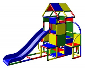 Moveandstic Lisa - großer Turm mit Rutsche und kleinen Anbau
