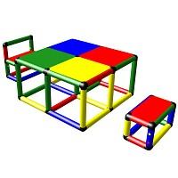 Moveandstic Elias - Sitzgruppe mit Tisch und 2 Stühlen