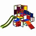 Moveandstic Josefine - großer Kletterturm mit 2 Rutschen und Treppe