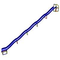 Moveandstic Frieda - Hangrutsche, 5-fach Rutschenfläche, 7,90m lang