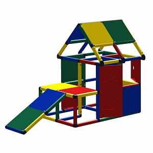 Moveandstic Lennard Spielhaus mit Kleinkindrutsche, Fenster und Tür
