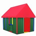 Moveandstic Spielhaus Family 165x144x152cm