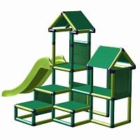 Spielturm Gesa - Kletterturm für Kleinkinder mit Rutsche und Stoffeinsätzen