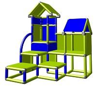 Moveandstic David grün blau - Kletterturm für Kleinkinder